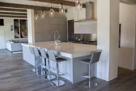 This Concrete Finish Adds A Modern Touch To The House And Merge Beautifully With Rustic Wood Beams Floor Preexisting Elements Home Owner