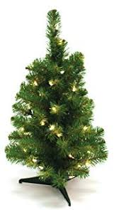 Special Happy Corp LTD Canadian Artificial Prelit Tabletop Christmas Tree 2 Feet Clear
