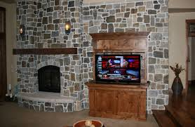 TV Hidden In Rustic Cabinet