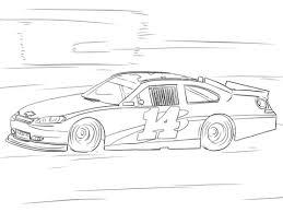 Click To See Printable Version Of Tony Stewart NASCAR Car Coloring Page