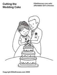 Het aansnijden van de taart Cutting the Wedding Cake