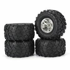 100 Rc Truck Wheels Tires Set For Redcat Blackout Volcano TRMT10E