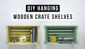 Wooden Crate Shelves Hanging Made Of Recycled Crates Diy