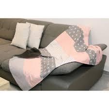 babydecke kuscheldecke 100x140 cm rosa grau