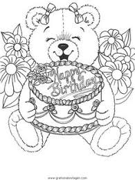Happy Birthday Coloring Pages Printable For Adults Kids Teens In Images Collect More Than 15 Best Beautiful Drawing Black And White To