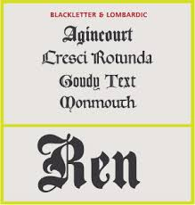 Type Classifications Fonts