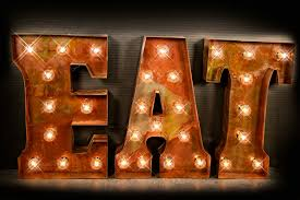 decor lighted marquee letters for sign design with bulb lighting