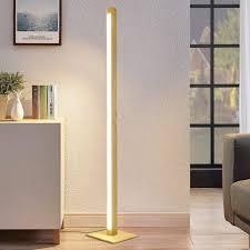 zmh led stehle dimmbar standleuchte aus holz 148cm 12w bodenleuchte mit 300cm kabel für schlafzimmer wohnzimmer kaufen otto