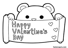 Happy Valentines Day Coloring Pages Free Download
