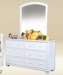 jay 1020w white bead board 6 drawer dresser with mirror