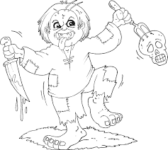 Horror Monster Halloween Print Coloring Pages