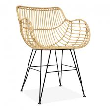 liza woven rattan dining chair rattan
