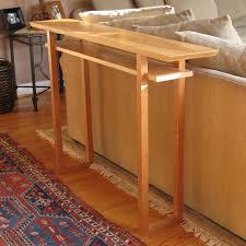 narrow sofa table narrow console table thin wood table for