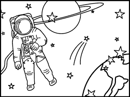 Astronaut Clipart Black And White