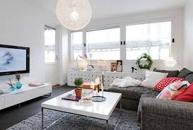 Small Living Room Design Ideas Apartments Blue Chairs White Drawers Study Desk Brown Wooden Wardrobe