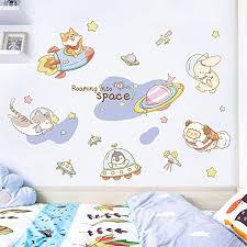 fsvgc wall stickers children s room layout stickers baby bedroom bedside background wall decoration mural wardrobe door stickers