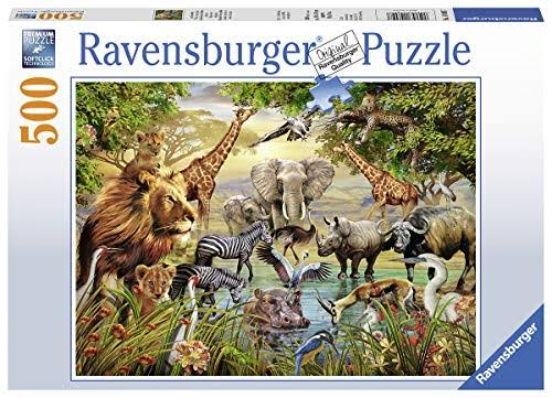 Ravensburger Animals at The Waterhole - 500pc Jigsaw Puzzle
