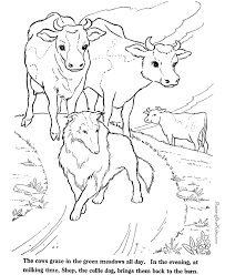 Mountain Dog Page Collie Animal Coloring Pages 12 Gorgeous Inspiration 011 Farm Animals Cows