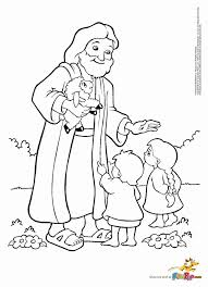 Jesus With Children Coloring Pages 150332 Label Childrens 244349