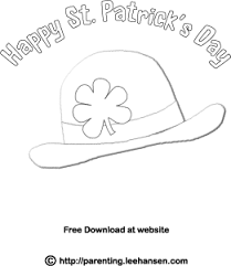St Patricks Coloring Page Shamrock Derby Hat Picture To Color