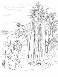 Samuel Anoiting Saul As King In Coloring Page