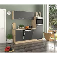 flex well exclusiv küchenzeile 210 cm basaltgrau matt san remo eiche hell