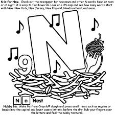 N Words Coloring Page