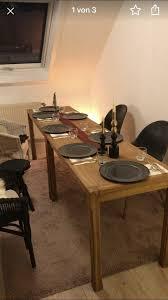 zwei eichentische esstische tafel aus eiche kombi massiv