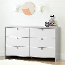 south shore cookie 6 drawer double dresser soft grey and pure