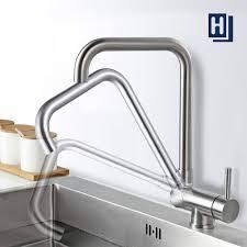 homelody 360 drehbar armatur vorfenster klappbarer wasserhahn für küche edelstahl matt