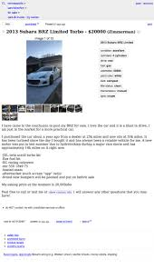 100 Craigslist Minneapolis Cars And Trucks By Owner For 20000 Will This 2013 Subaru BRZ Turbo Blow You Away