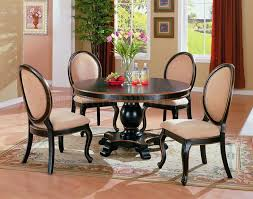 Two Tone Elegant Dining Room Set With Round Table