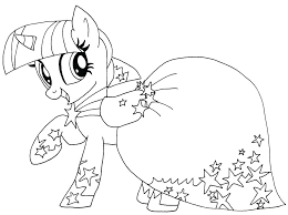 My Little Pony Coloring Pages Twilight Sparkle And Friends Page Beautiful With Dress Cartoon Home Improvement Applejack Twi