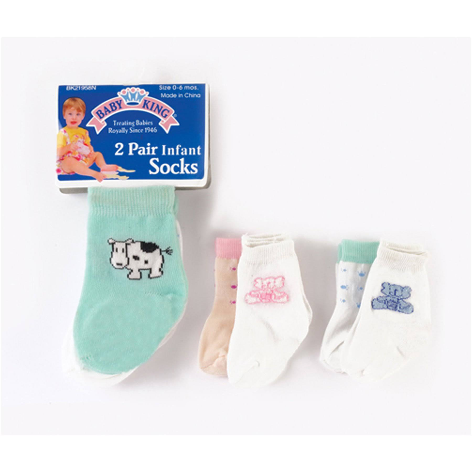 Baby King Infant Socks, Asst - 1 Package