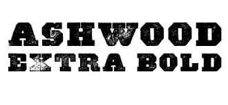 A Wild West Style Font Called Ashwood Extra Bold From The Walden Co It