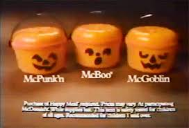Mcdonalds Halloween Buckets by Mcdonalds Halloween