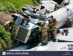 100 Milk Truck Accident Aug 22 2012 Modesto California US A Milk Truck Traveling