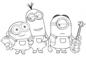 Printable Minions A Perfect Minion Coloring Pages To Print