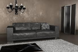 grey leather sofa luxury dark grey metropolitan penthouse