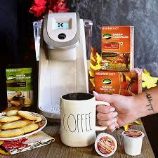 Sandy Pearl White Keurig Brewer Green Mountain Coffee Pumpkin Spice K CupR Pods
