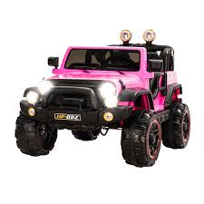 Pink Electric Jeep Ride On Truck Kids Power Wheels 12V Remote Riding ... Little Riderz 12 V Kids Camo Ride On Truck With Mp3 Led Lights Shop Costway 12v Jeep Car Rc Remote Control W Amazoncom Mega Bloks Cat 3 In 1 On Dump Toys Games Tonka Mighty Electric Australian Toy Kid Trax Red Fire Engine Rideon Tonka Ride On Mighty Dump Truck For Kids Youtube Power Wheels Ford Lil F150 6volt Operated Buy Tikes Spray Rescue Online Pink And Purple Princess Cozy Foot To Floor Bloks In Push Along Sitride Toy