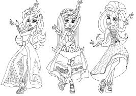 Surprising Design Monster High Coloring Pages All Characters Free Pirintibls Printable