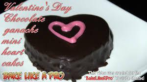 Valentine s Day Chocolate Ganache Mini Heart Cake Recipe