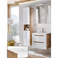 lomadox komplett badezimmer set in hochglanz weiß mit