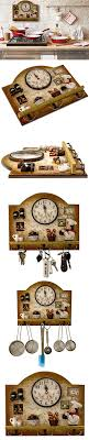 Heartful Home Fat Italian Chef Kitchen Decor Clock With Hooks