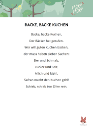 backe backe kuchen lied liedtext moupmoup kinderlieder
