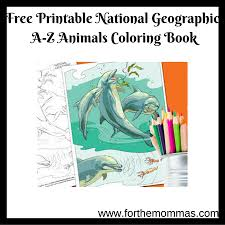 Free Printable National Geographic A Z Animals Coloring Book