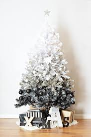 How Cool Is This Black And White Ombre Tree Christmas Decorations Modern