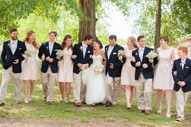 Navy Blue Pink Classic Spring Wedding