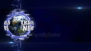 TRAVELS NEWS Text Animation And Earth Rendering Background Loop 4k Stock